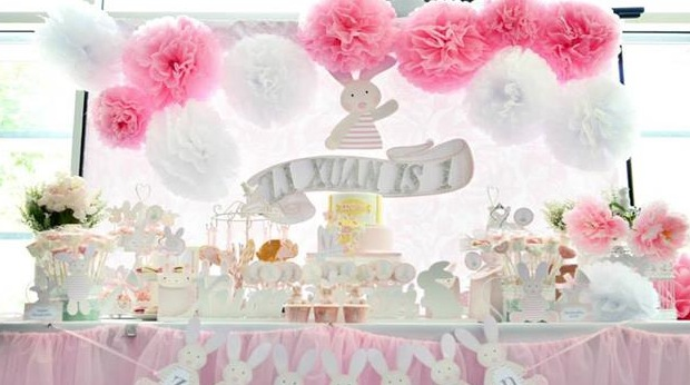 Shabby Chic Bunny Party Planning Ideas Supplies Idea Cake Decorations