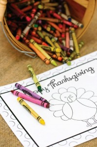 Thanksgiving Kids Table with FREE PRINTABLES via Kara's Party Ideas | KarasPartyIdeas.com #ThanksgivingPrintables #ThanksgivingTable #Party #Ideas #Supplies (14)