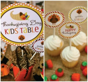 Thanksgiving Kids Table with FREE PRINTABLES via Kara's Party Ideas | KarasPartyIdeas.com #ThanksgivingPrintables #ThanksgivingTable #Party #Ideas #Supplies (1)