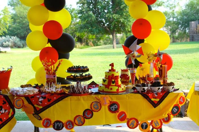 Kara's Party Ideas Mickey Mouse Themed 1st Birthday Party Full of ...