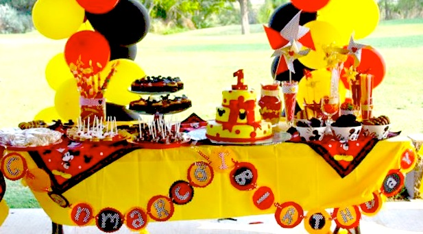 Baby Mickey Mouse 1st Birthday Decorations Image Inspiration of