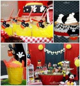Mickey's Magic Land Mickey Mouse Party Full of Cute Ideas via Kara's Party Ideas | KarasPartyIdeas.com #MickeyMouse #PartyIdeas #Supplies (1)