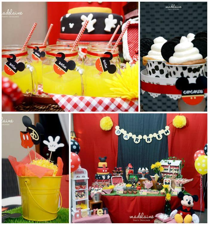 Mickeyu0027s Magic Land Mickey Mouse Party Full Of Cute Ideas Via Karau0027s Party  Ideas | KarasPartyIdeas