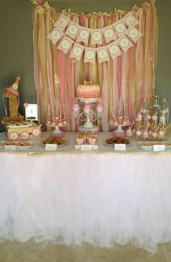 Kara S Party Ideas Pink And Gold Milk And Cookies Party