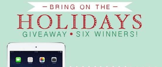 Huge giveaway! ipad air, ipad mini and ipod shuffles!