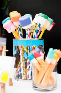 Painting Party with Lots of Really Fun Ideas via Kara's Party Ideas | KarasPartyIdeas.com #PaintParty #ArtParty #PartyIdeas #Supplies (22)