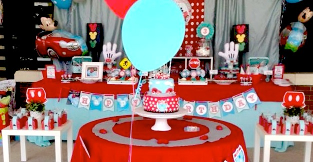Mickey Mouse Little Red Car Party Planning Ideas Supplies Idea Cake