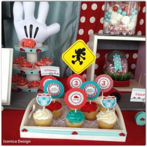 Mickey Mouse Little Red Car Party Full of Fabulous Ideas via Kara's Party Ideas | KarasPartyIdeas.com #MickeyMouseParty #Party #Ideas #Supplies (2)