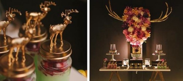 rustic elegant 40th birthday party idea