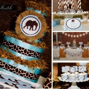 Safari Themed Baby Shower with Such Cute Ideas via Kara's Party Ideas | KarasPartyIdeas.com #SafariParty #Party #Ideas #Supplies (12)