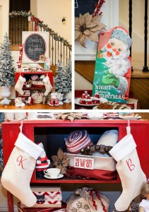 Vintage Santa Christmas Party with Full of DARLING IDEAS via Kara's Party Ideas | KarasPartyIdeas.com #ChristmasParty #SantaClausParty #Party #Ideas #Supplies (1)