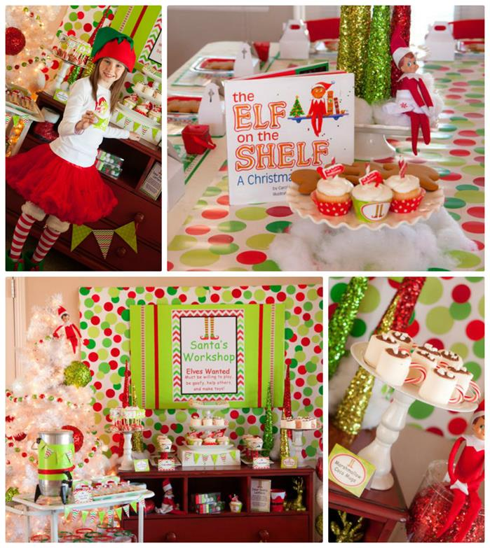 Christmas Party Themes: Kara's Party Ideas Santa's Little Helpers Christmas Party