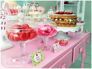 Strawberry Themed 1st Birthday Party with Such Cute Ideas via Kara's Party Ideas | KarasPartyIdeas.com #StrawberryParty #PartyIdeas #Supplies (9)