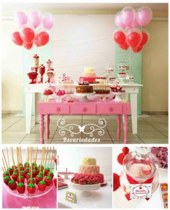 Strawberry Themed 1st Birthday Party with Such Cute Ideas via Kara's Party Ideas | KarasPartyIdeas.com #StrawberryParty #PartyIdeas #Supplies (1)