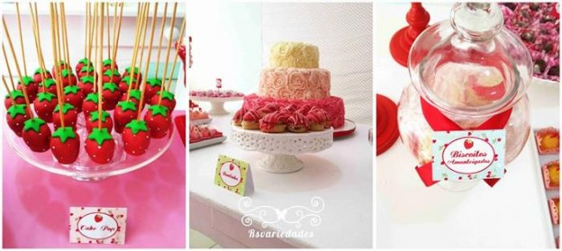 Strawberry Themed 1st Birthday Party with Such Cute Ideas via Kara's Party Ideas | KarasPartyIdeas.com #StrawberryParty #PartyIdeas #Supplies (15)
