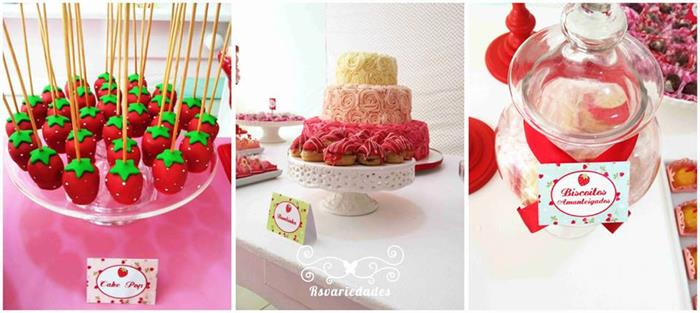 Kara 39 s party ideas strawberry themed 1st birthday party with lots of really cute ideas via kara - Strawberry themed kitchen decor ...