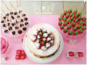 Strawberry Themed 1st Birthday Party with Such Cute Ideas via Kara's Party Ideas | KarasPartyIdeas.com #StrawberryParty #PartyIdeas #Supplies (12)
