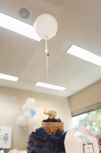 Elephants + Hot Air Balloon Baby Shower Full of Cute Ideas via Kara's Party Ideas | KarasPartyIdeas.com #UpUpAndAway #ElephantParty #HotAirBalloonParty #PartyIdeas #Supplies (11)