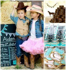 Vintage Cowboy and Cowgirl Party with Lots of REALLY CUTE IDEAS via Kara's Party Ideas KarasPartyIdeas.com #WesternParty #CowboyParty #CowgirlParty #PartyIdeas #Supplies (1)