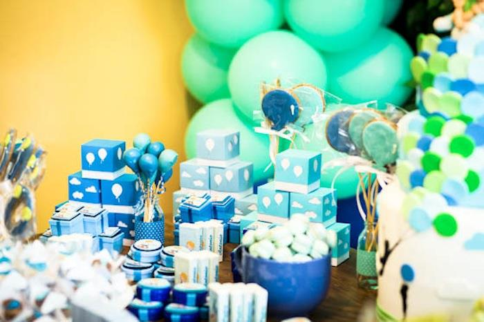 blue and green birthday party Colesthecolossusco