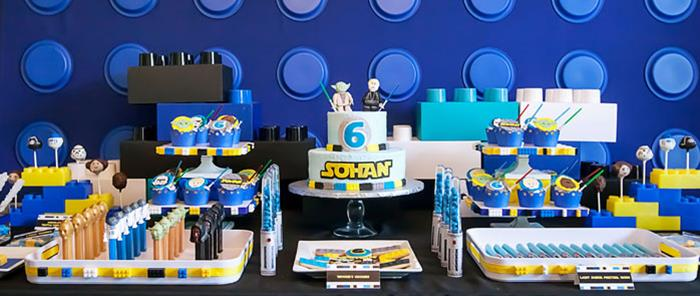 Karas Party Ideas A Star Wars Legos Lightsabers