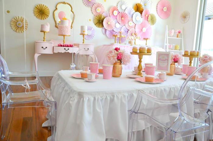 Cake Table Peach Cloth