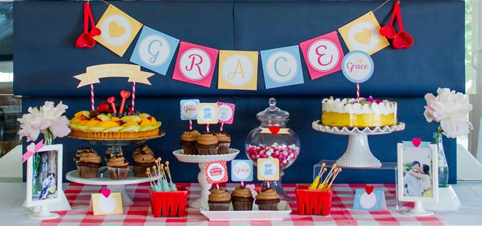 karas party ideas retro kitchen bridal shower ideas supplies decor