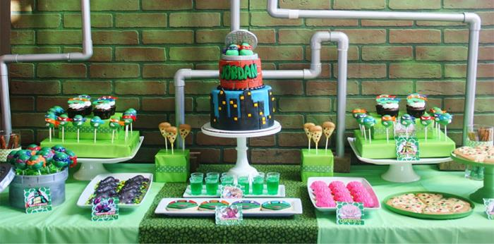 Tmnt  Party City Cake Green
