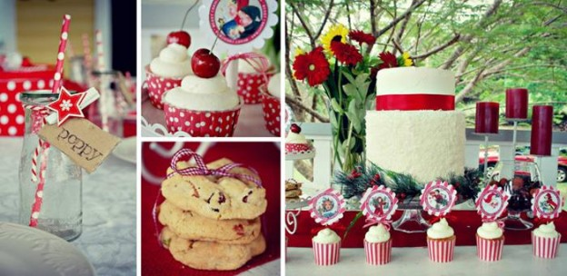 Vintage Christmas Party with Lots of Really Cute Ideas via Kara's Party Ideas KarasPartyIdeas.com #VintageChristmas #VintageHolidayParty #ChristmasCake #PartyIdeas #Supplies (2)