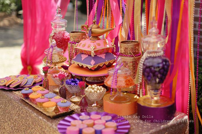 Kara 39 s party ideas arabian belly dancer party with such for Arabian nights decoration ideas