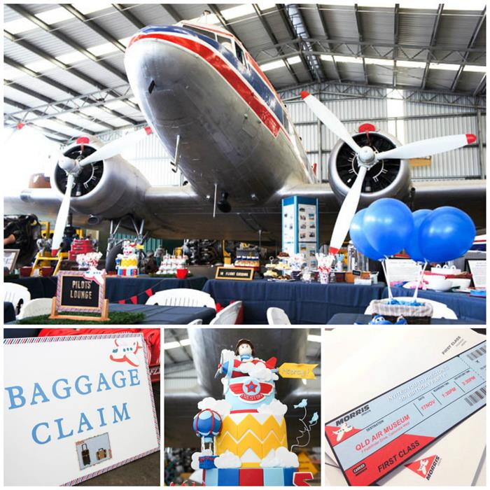 Kara S Party Ideas Car Themed 1st Birthday Party Via Kara: Kara's Party Ideas » Aviation Airplane Themed Birthday