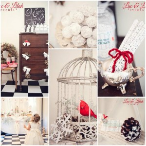 Birch Trees and Birdies Winter Wonderland Party with Such Cute Ideas via Kara's Party Ideas KarasPartyIdeas.com #HolidayParty #WinterParty #ChristmasParty #ChristmasBirthdayParty #PartyIdeas #Supplies (1)
