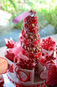 Candy Cane Winter Wonderland Party with So Many Cute Ideas via Kara's Party Ideas | KarasPartyIdeas.com #CandyCaneParty #WinterWonderlandParty #RedChristmasParty #PartyIdeas #Supplies (17)