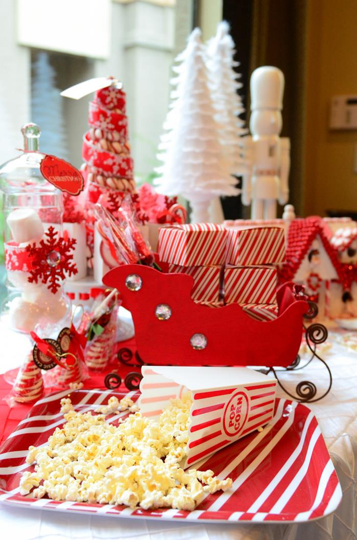 Karas Party Ideas Candy Cane Winter Wonderland With