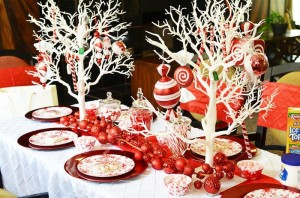 Candy Cane Winter Wonderland Party with So Many Cute Ideas via Kara's Party Ideas | KarasPartyIdeas.com #CandyCaneParty #WinterWonderlandParty #RedChristmasParty #PartyIdeas #Supplies (1)