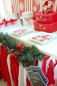 Red and White Christmas Party with Lots of Really Cute Ideas via Kara's Party Ideas | KarasPartyIdeas.com #ChristmasParty #HolidayParty #Party #Ideas #Supplies (16)