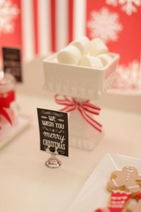 Red and White Christmas Party with Lots of Really Cute Ideas via Kara's Party Ideas | KarasPartyIdeas.com #ChristmasParty #HolidayParty #Party #Ideas #Supplies (3)