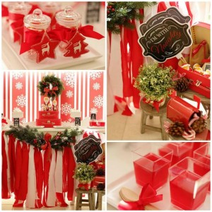 Red and White Christmas Party with Lots of Really Cute Ideas via Kara's Party Ideas | KarasPartyIdeas.com #ChristmasParty #HolidayParty #Party #Ideas #Supplies (1)