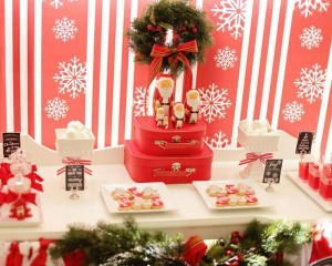 Red and White Christmas Party with Lots of Really Cute Ideas via Kara's Party Ideas | KarasPartyIdeas.com #ChristmasParty #HolidayParty #Party #Ideas #Supplies (13)