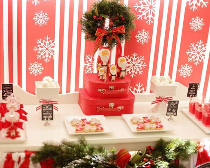 Kara S Party Ideas Red And White Christmas Party With Such