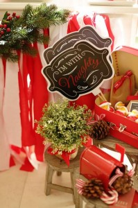 Red and White Christmas Party with Lots of Really Cute Ideas via Kara's Party Ideas | KarasPartyIdeas.com #ChristmasParty #HolidayParty #Party #Ideas #Supplies (12)