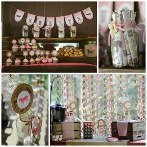 Rustic Cowgirl Party with Such Darling Ideas via Kara's Party Ideas KarasPartyIdeas.com #CowgirlParty #VintageParty #WesternParty #PartyIdeas #Supplies (1)