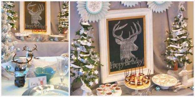 Oh Deer! She's 13! Themed Birthday Party with Such Cute Ideas via Kara's Party Ideas KarasPartyIdeas.com #ReindeerParty #ChristmasParty #ReindeerThemedDesserts #DeerParty #PartyIdeas #Supplies (6)
