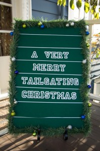 A Verry Merry Tailgating Christmas party with Such Cute Ideas via Kara's Party Ideas KarasPartyIdeas.com #TailgatingParty #FootballParty #ChristmasFootballParty #PartyIdeas #Supplies (23)