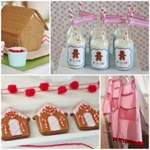 Gingerbread House Decorating Party Full of Cute Ideas via Kara's Party Ideas | KarasPartyIdeas.com #GingerbreadCookies #ChristmasParty #PartyIdeas #Supplies (1)
