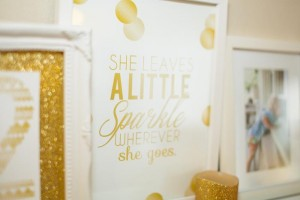 Sparkle and Shine Golden Birthday Party with Really Cute Ideas via Kara's Party Ideas KarasPartyIdeas.com #GoldenBirthday #GoldParty #GoldenWeddingAnniversary #Party #Ideas #Supplies (8)