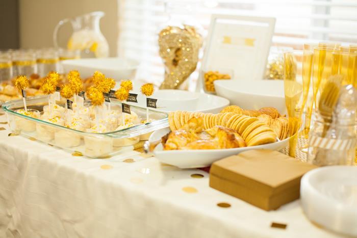 Sparkle and Shine Golden Birthday Party with Really Cute Ideas via Kara's Party  Ideas KarasPartyIdeas.