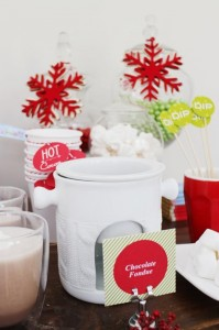 """Jingle All the Way"" Christmas Hot Cocoa Bar with So Many Really Cute Ideas via Kara's Party Ideas KarasPartyIdeas.com #HotCocoaBar #HotChocolate #ChristmasParty #NorthPoleParty (7)"