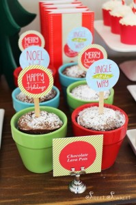 """Jingle All the Way"" Christmas Hot Cocoa Bar with So Many Really Cute Ideas via Kara's Party Ideas KarasPartyIdeas.com #HotCocoaBar #HotChocolate #ChristmasParty #NorthPoleParty (21)"