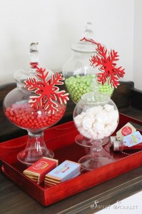 """Jingle All the Way"" Christmas Hot Cocoa Bar with So Many Really Cute Ideas via Kara's Party Ideas KarasPartyIdeas.com #HotCocoaBar #HotChocolate #ChristmasParty #NorthPoleParty (2)"